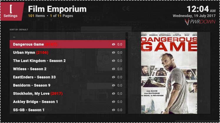 Kodi Film Emporium add-on UK Shows & Movies