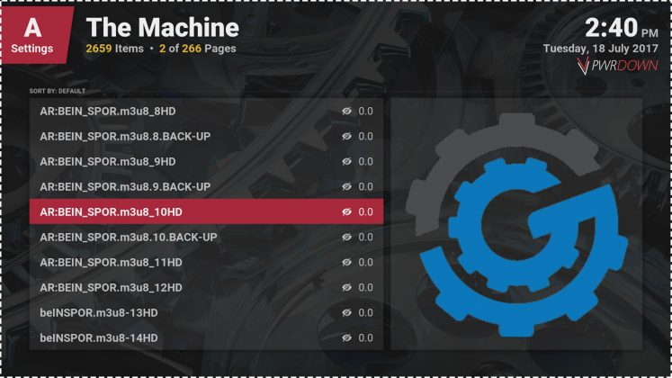 Kodi The Machine Add-on World channels