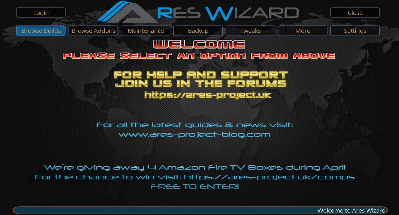 Ares Wizard for Kodi 17.3