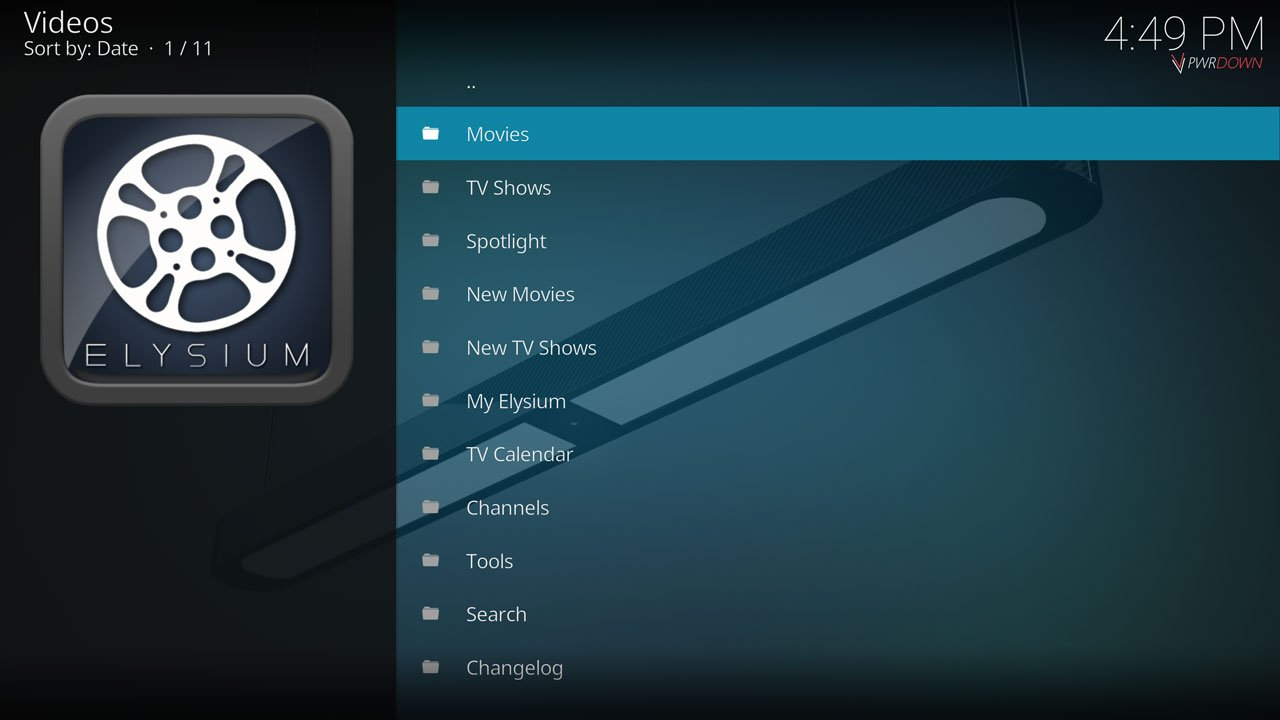 Elysium Kodi add-on from SuperRepo