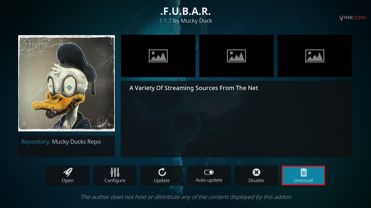 How to stop Buffering on Kodi by uninstalling an add-on