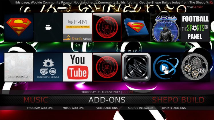 Kodi Shepo Build Add-ons