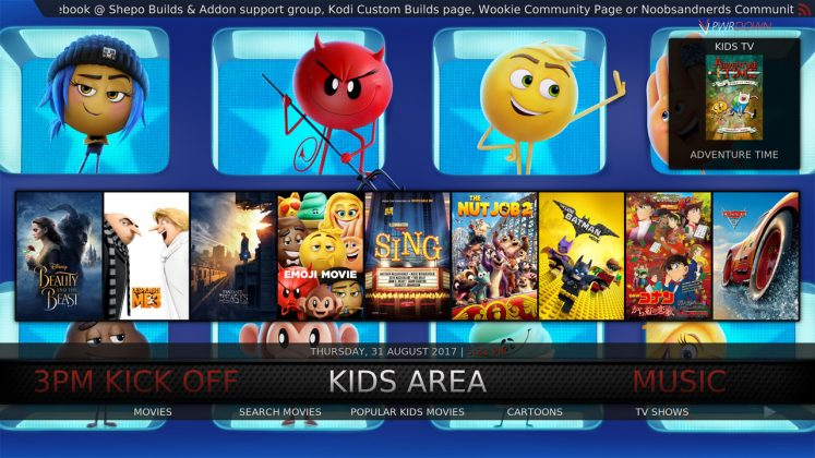Kodi Shepo Build Kids Area