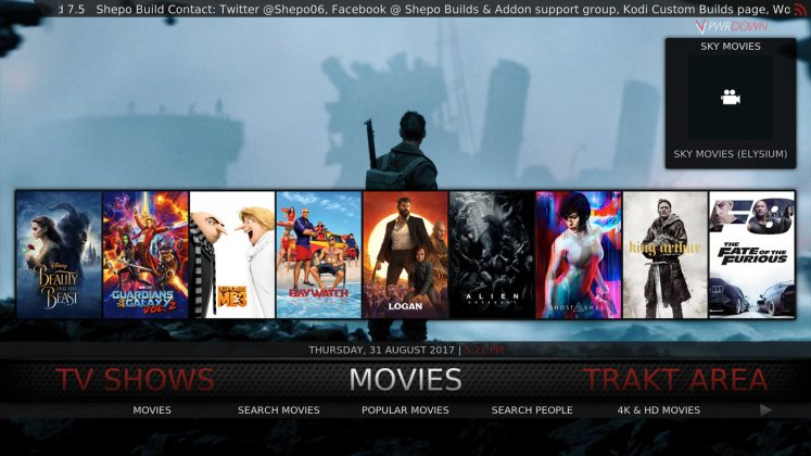 Kodi Shepo Build Movies