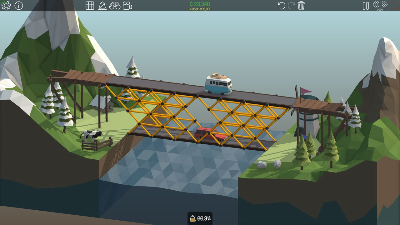 Poly Bridge 1-12 Double Decker
