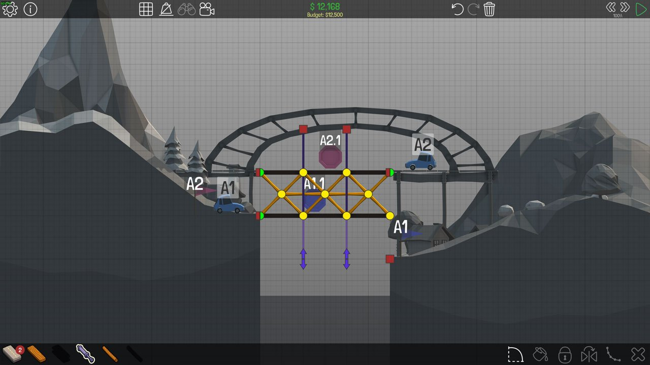 Poly Bridge 1-15 Easy elevator