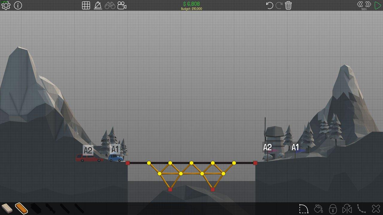 Poly Bridge 12M Simple Bridge
