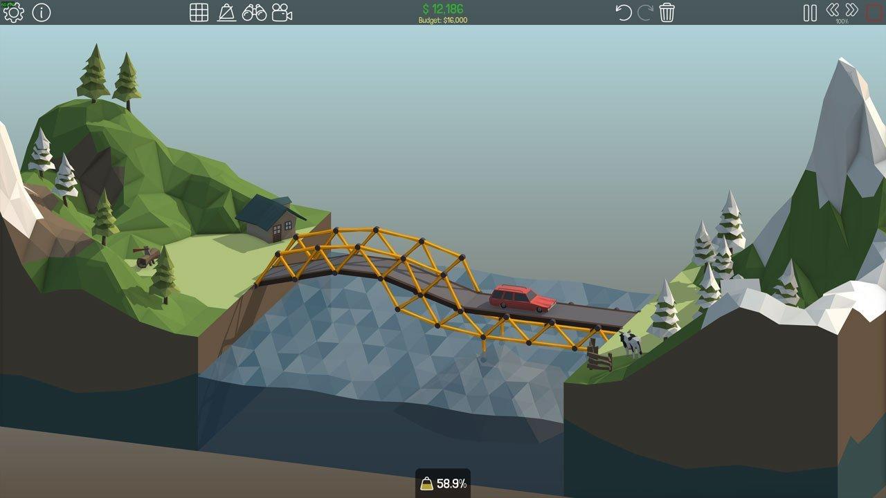 Poly Bridge 1-6 Over Bridge
