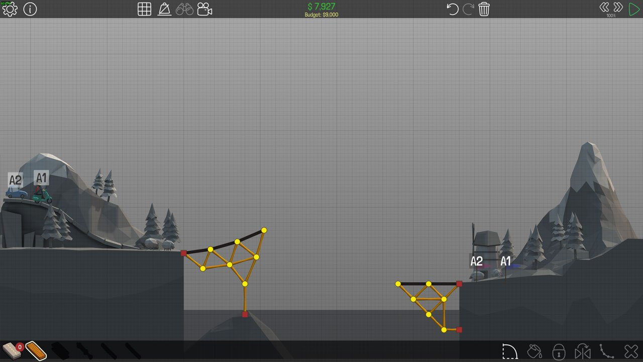 Poly Bridge 1-7 Simple Jump
