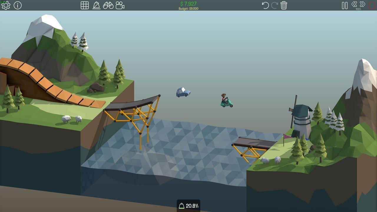 Poly Bridge 1-7 Simple Jump
