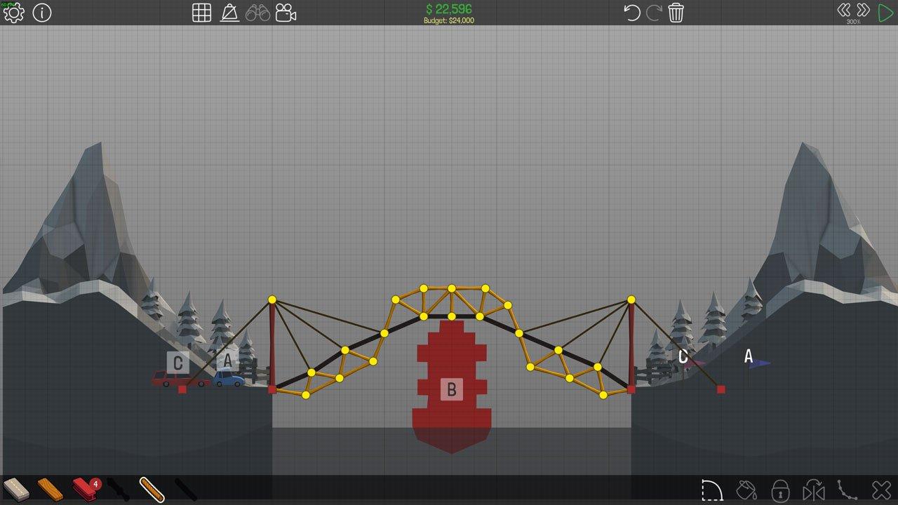 Poly Bridge 1-8 Overpass