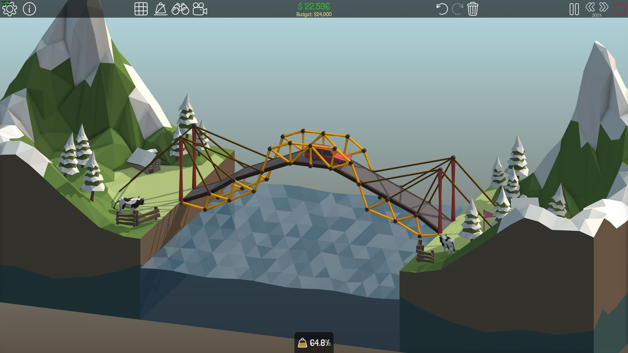Poly Bridge 1-8 Overpass