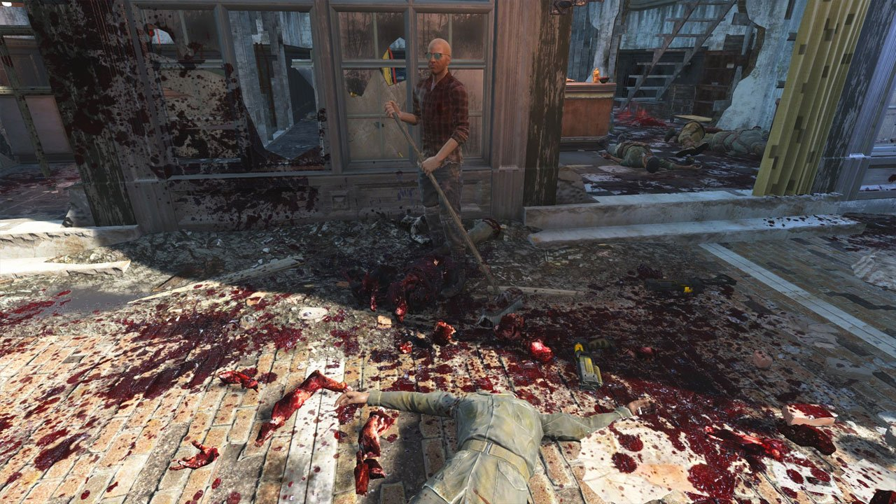 Best Fallout 4 Mods for Graphics enhanced blood textures
