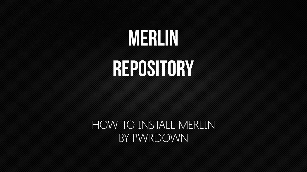 How to install the Kodi Merlin Repository