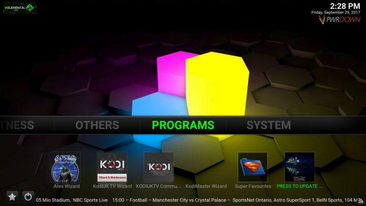 Kodi Titanic Build Programs