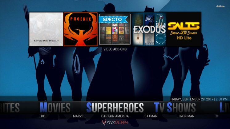 Kodi Hexane Build Super heroes
