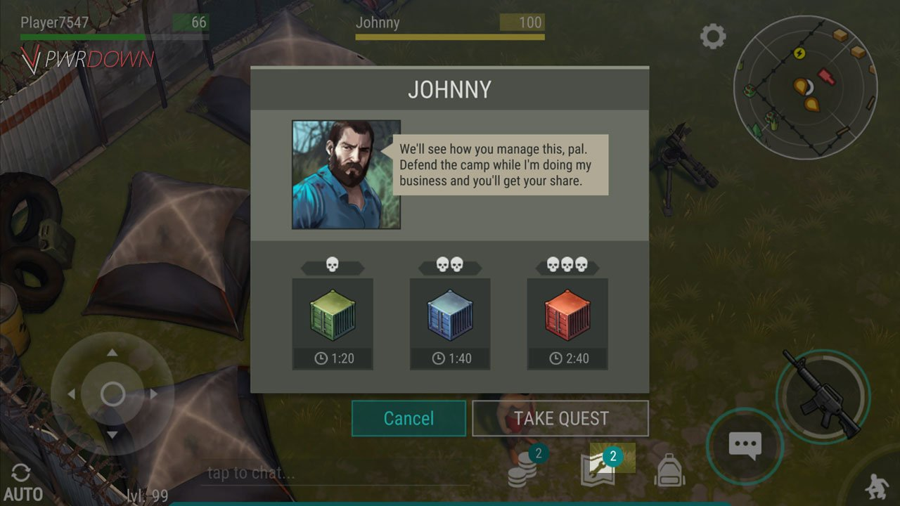 Last Day on Earth The Smugglers Camp talk to johnny to take the quest