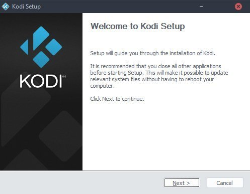 Run through the setup to install the latest Kodi Krypton on your laptop