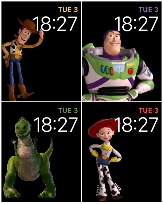 Toy Story faces for the Apple Watch