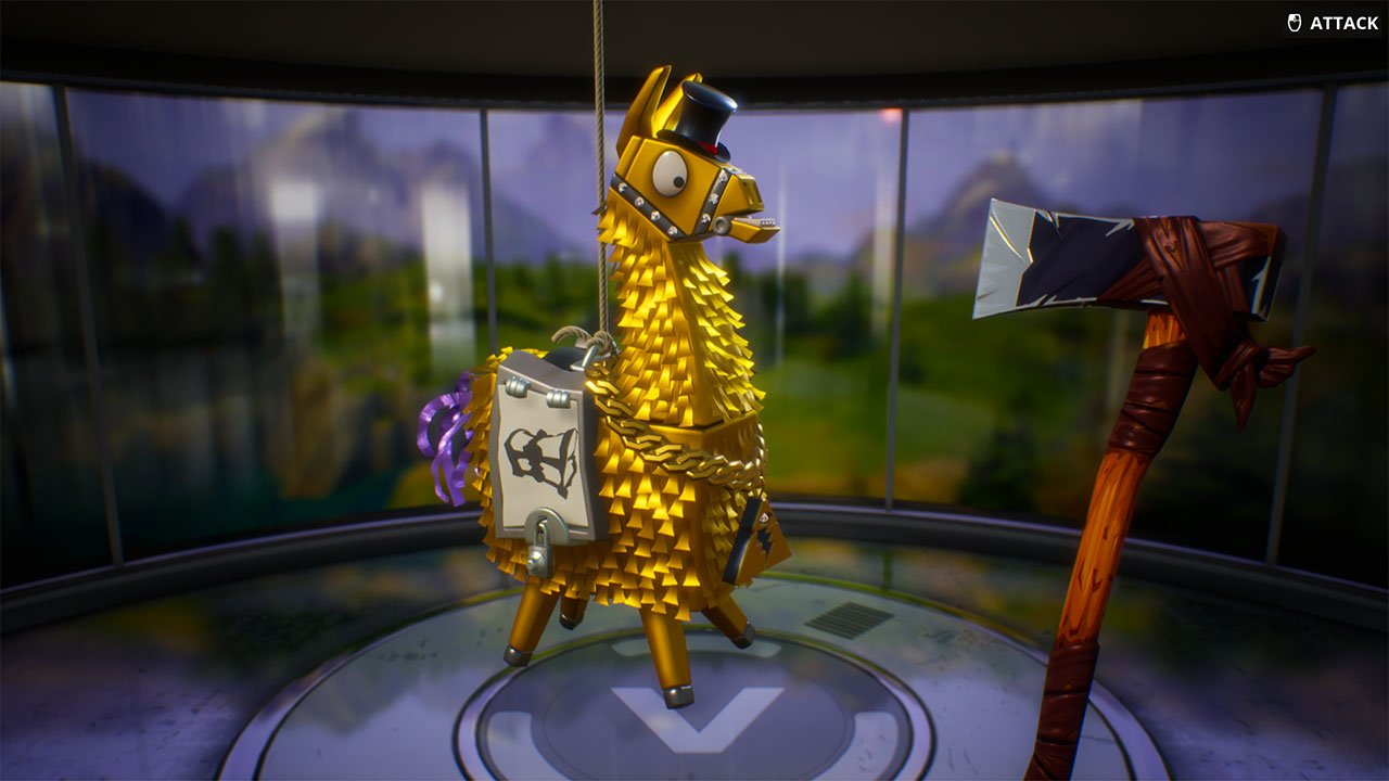 Fortnite Golden Llama loot rewards