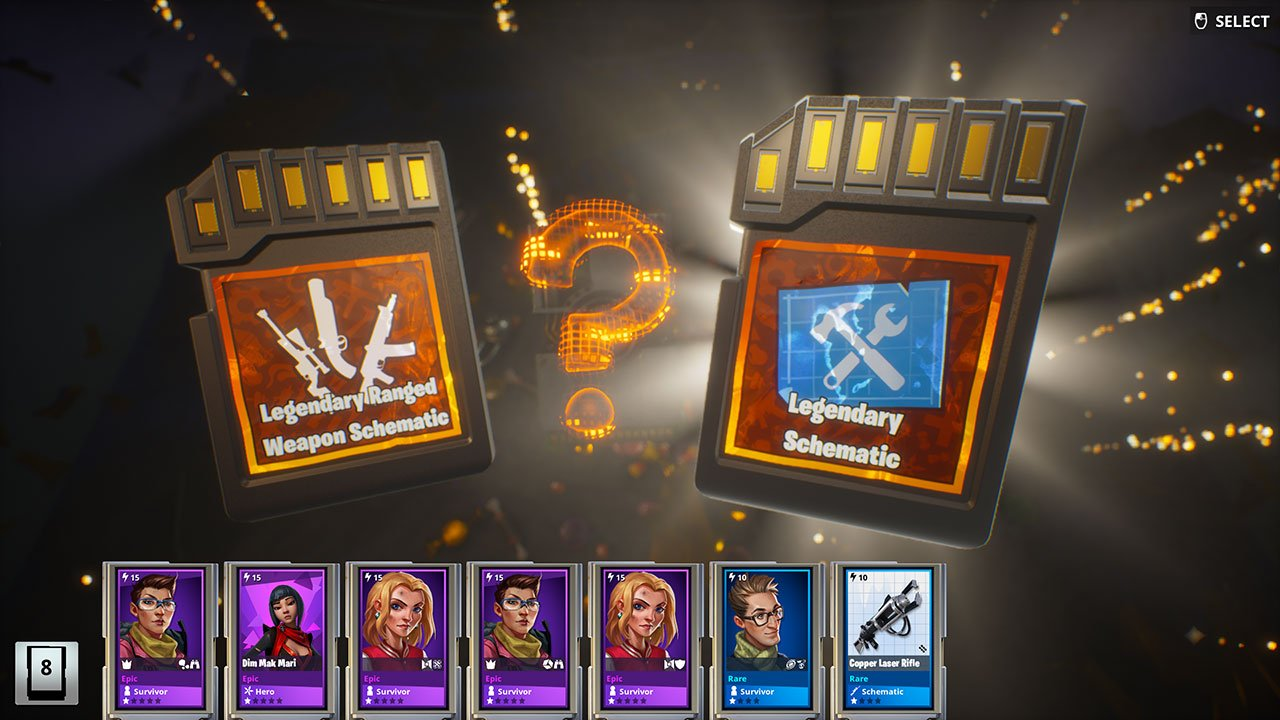 Fortnite Golden Llama loot rewards legendary ranged schematic or legendary schematic