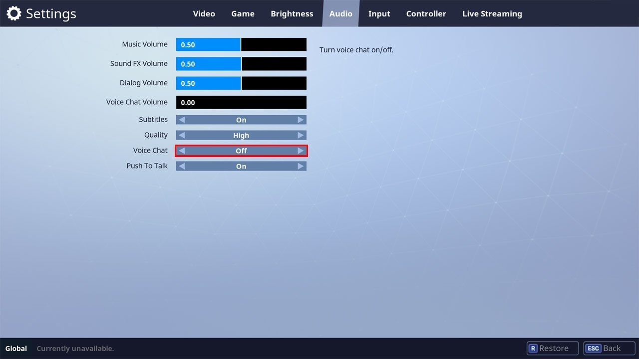 Fortnite how to disable voice chat in battle royale