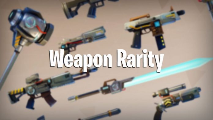 weapon rarity in fortnite battle royale