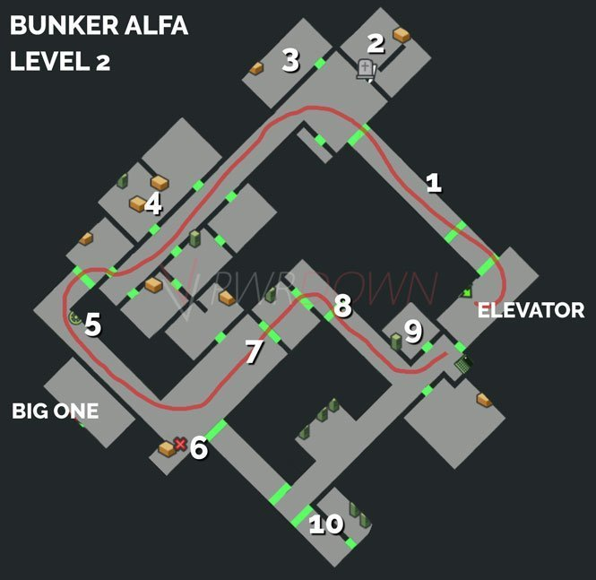 Last Day on Earth Survival Bunker Alfa Level 2 Guide map