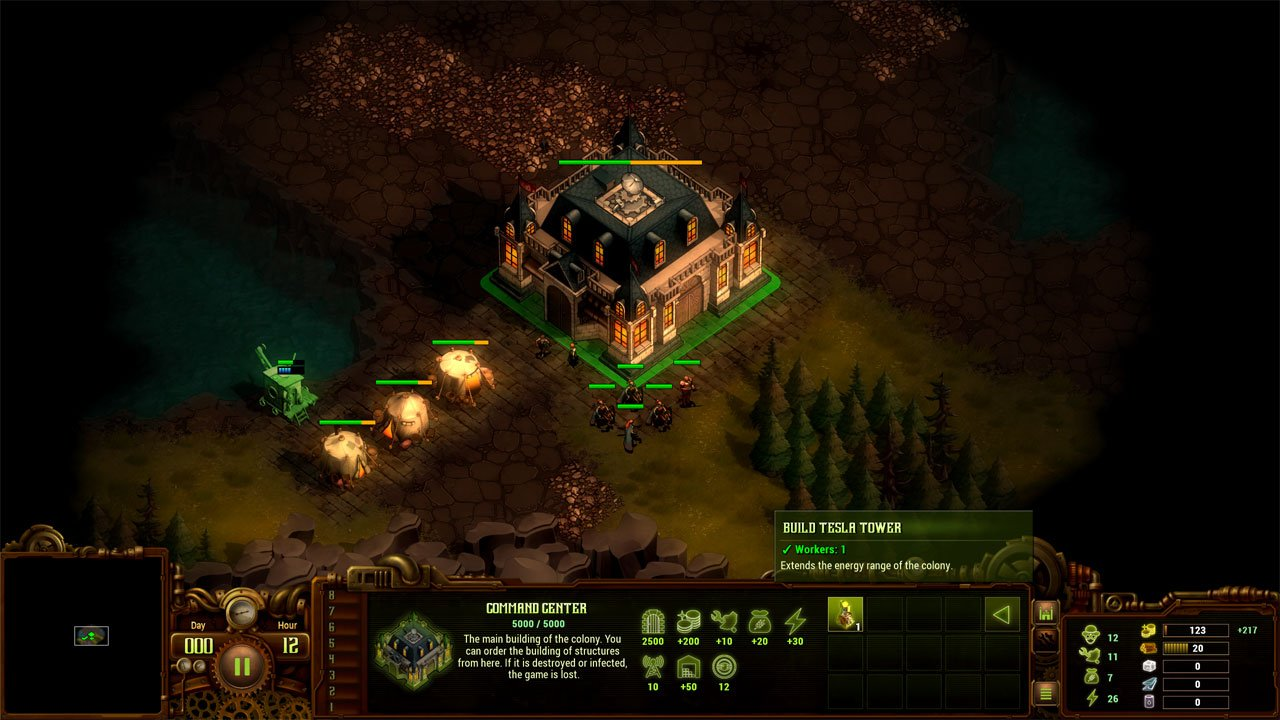 They Are Billions how to expand land build a tesla tower