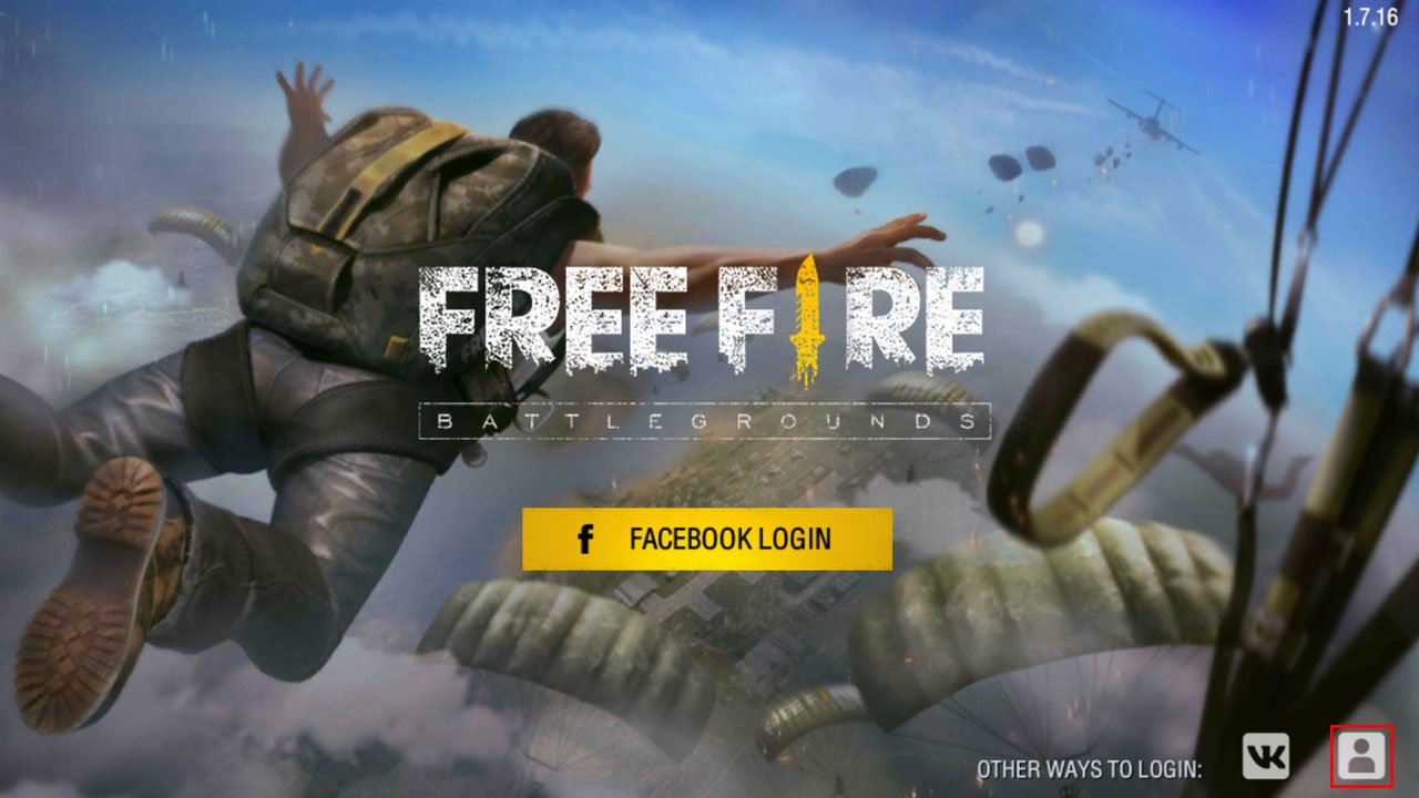 Free Fire skip facebook login create account