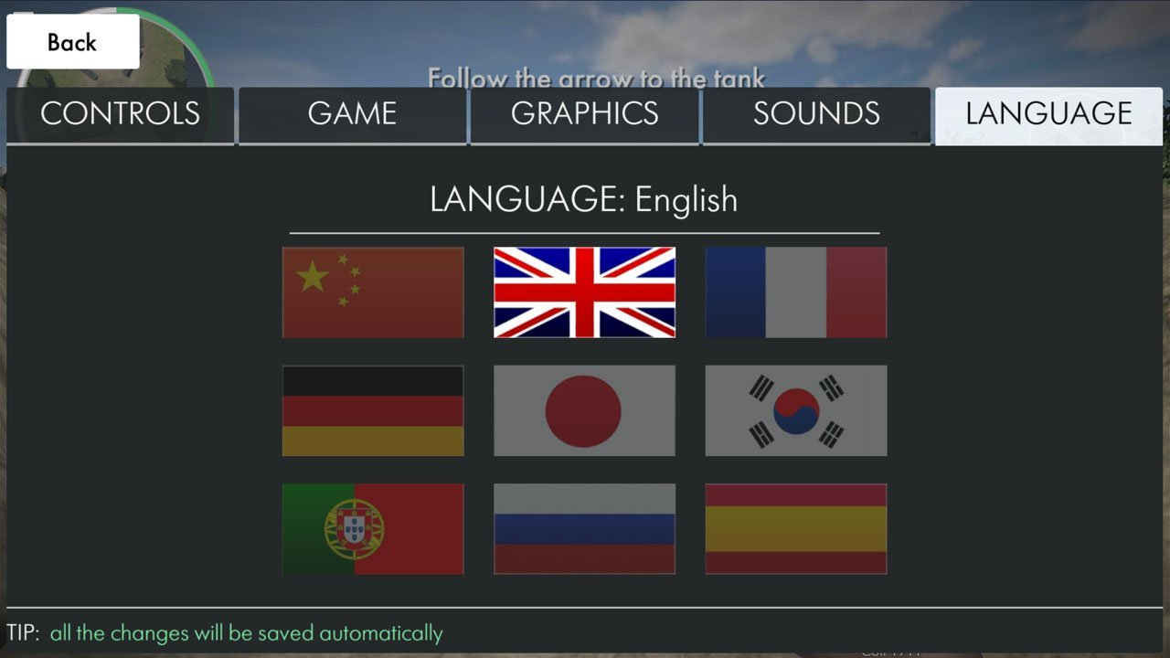 World war heroes change language select your language flag
