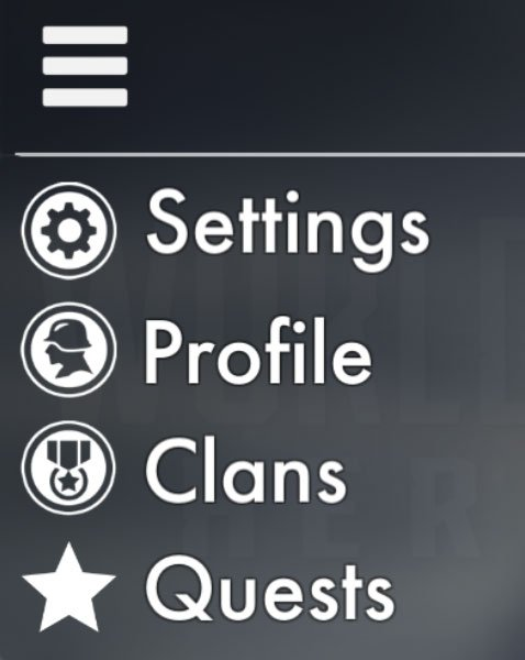 World War Heroes how to join a clan  open settings and choose clans