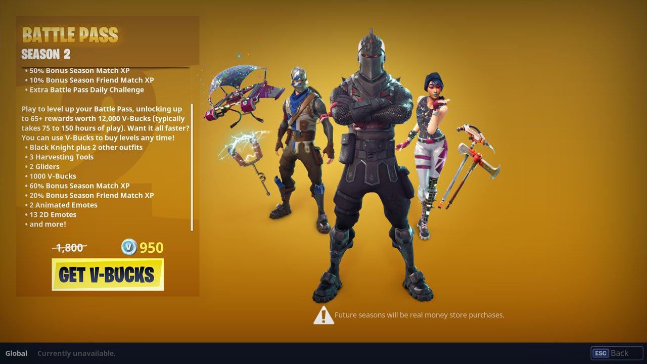 Fortnite Battle Royale battle pass information and rewards