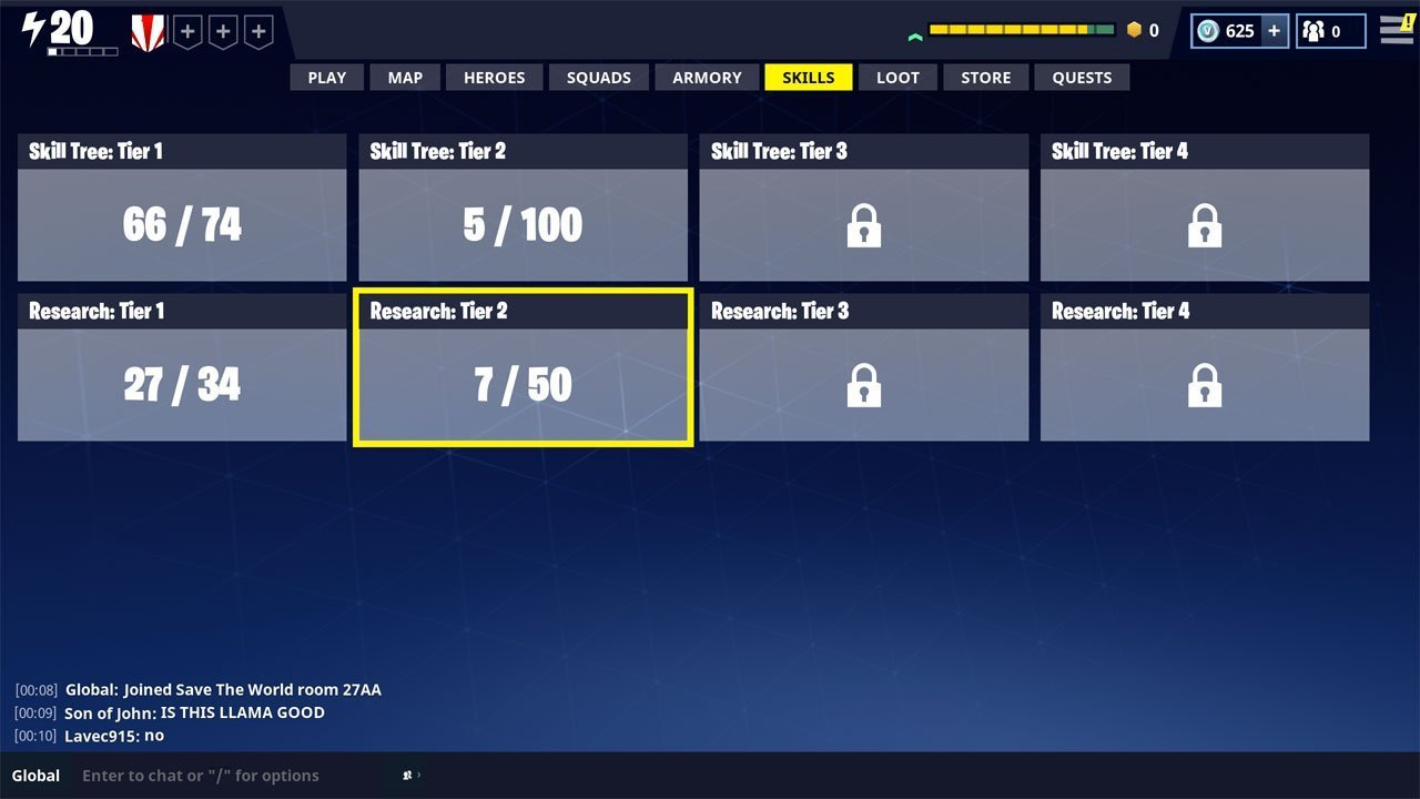 how to unlock skill tree tier 2 in fortnite different trees