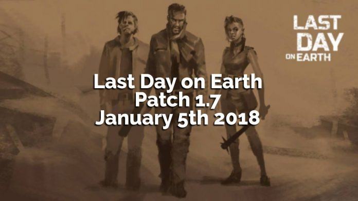 Last Day on Earth Survival patch notes 1.7 raiders