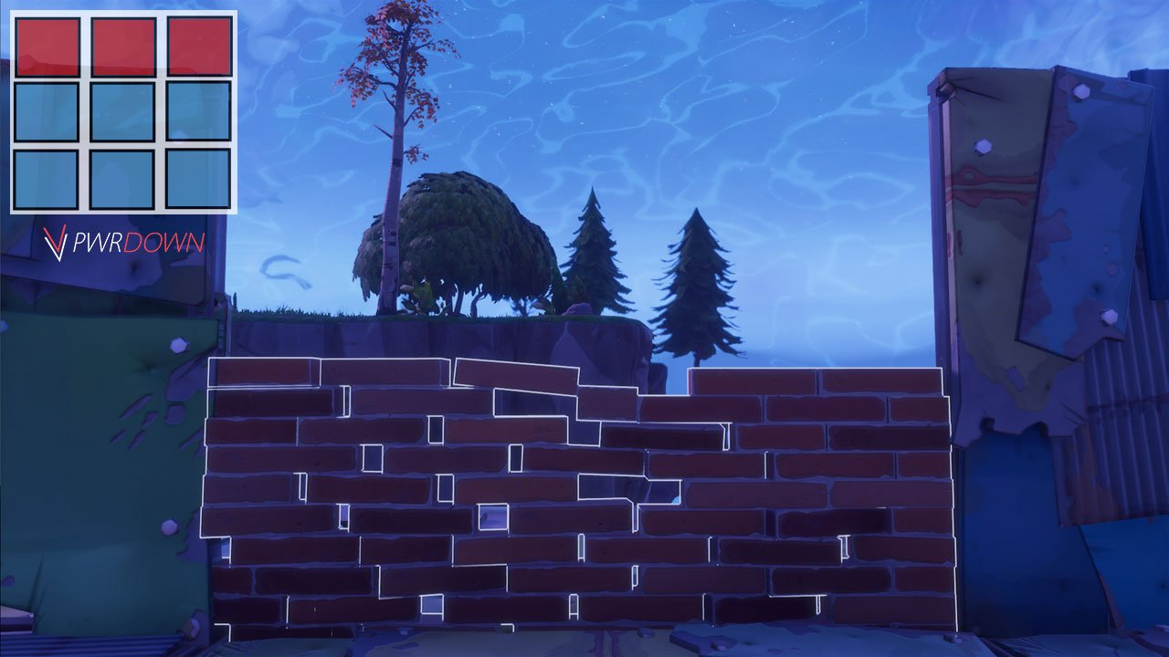 below are all the current wall designs available in fortnite these walls work in both pve pvp in the top left corner of each image is the grid that you - fortnite wall building patterns