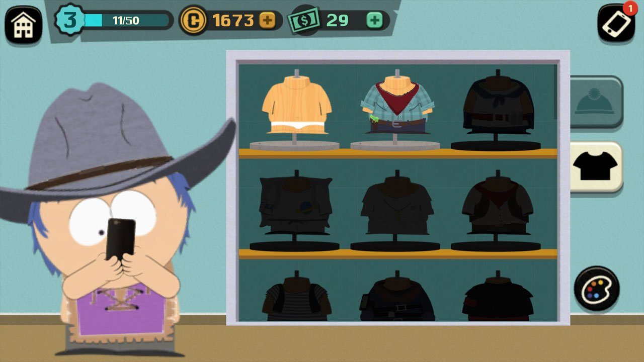 south park phone destroyer choose your outfit and change the colours
