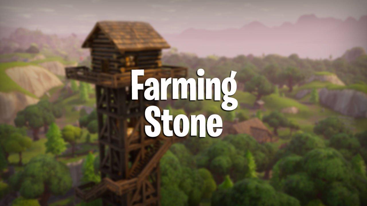 Fortnite Where And How To Farm Stone Pwrdown