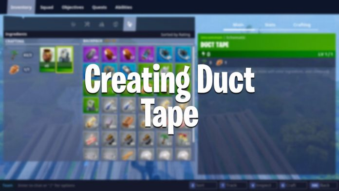 Fortnite how to craft duct tape