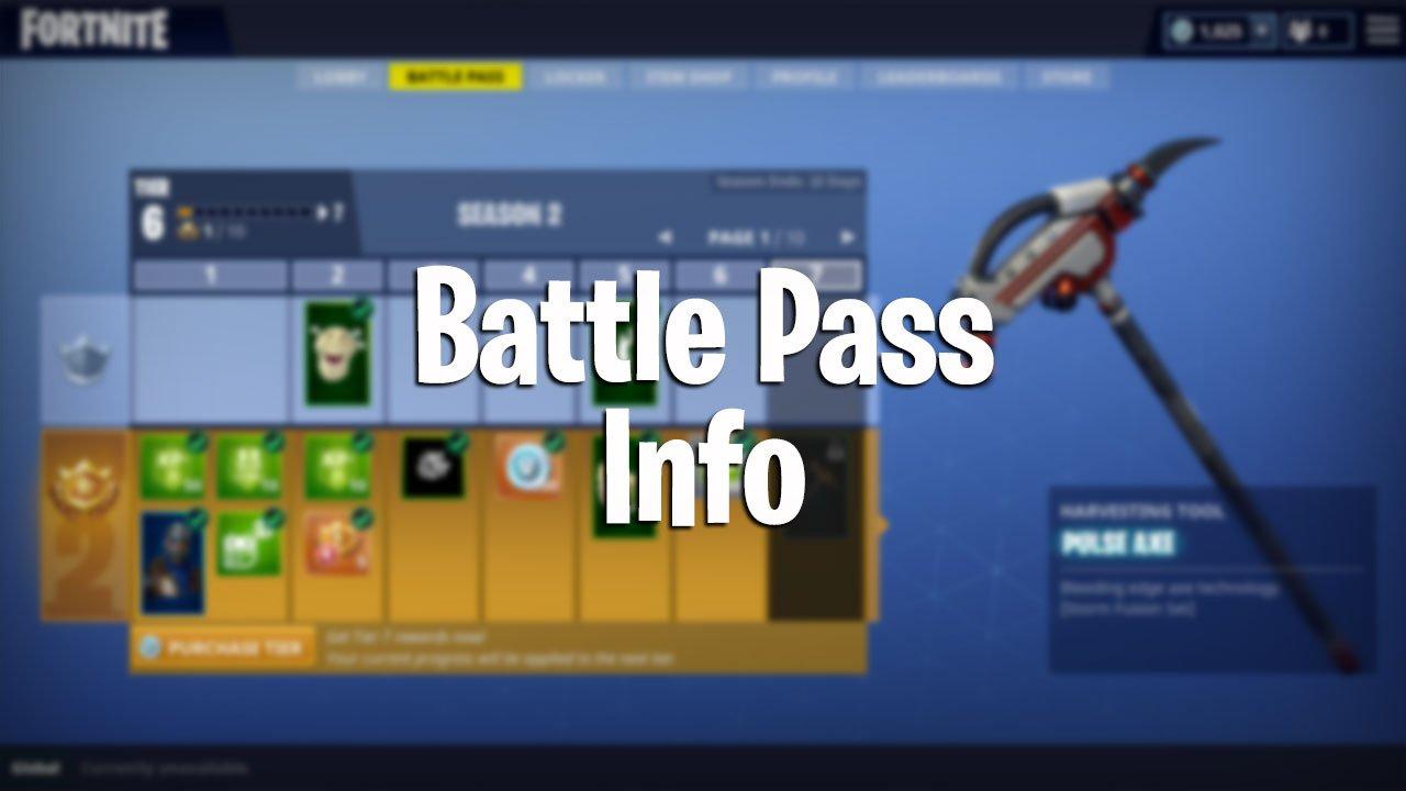 Fortnite Battle Royale Battle Pass Information Guide Pwrdown