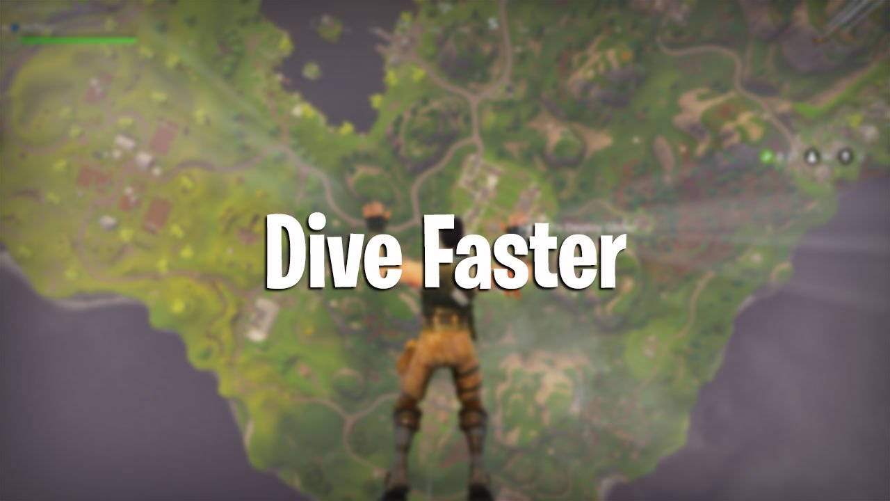 how to land faster in fortnite battle royale - fortnite drop items faster
