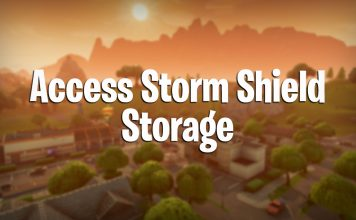 fortnite how to access storm shield storage