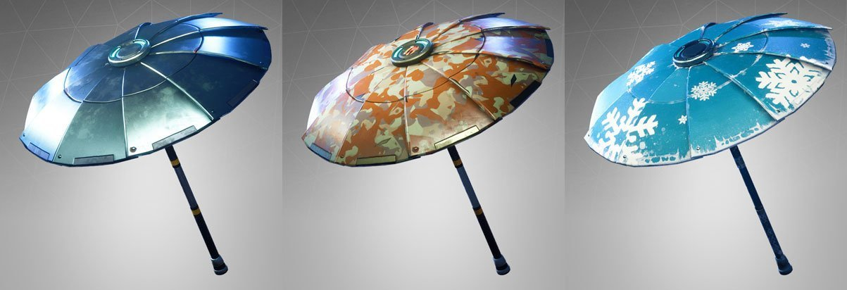 Fortnite Battle Royale all umbrella variations
