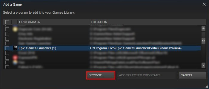 add epic games launcher to steam