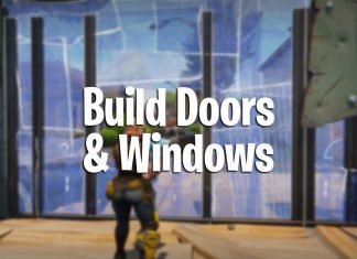 how to make doors and windows in fortnite battle royale