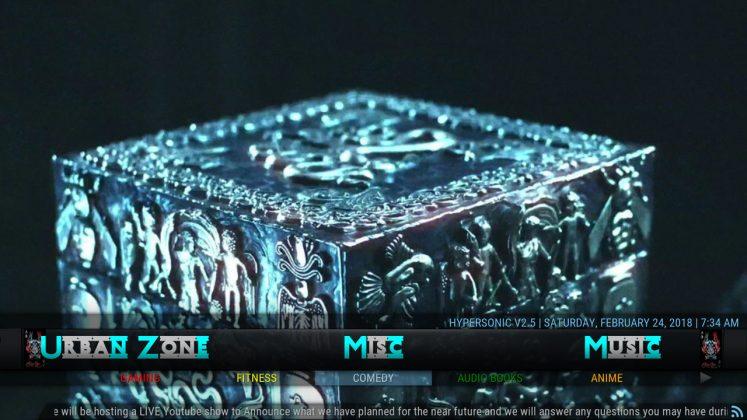 Kodi HyperSonic Build Misc