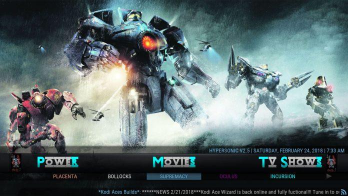 Kodi HyperSonic Build Movies