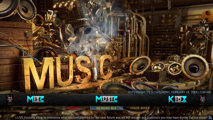 Kodi HyperSonic Build Music