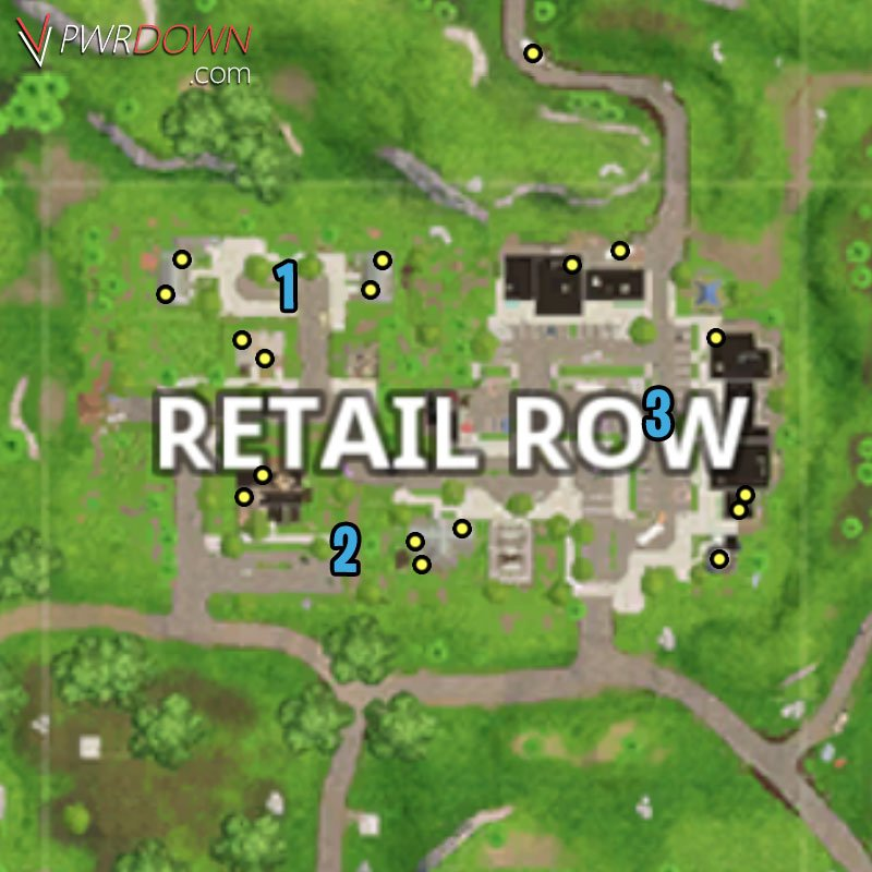 fortnite battle royale chest locations retail row map