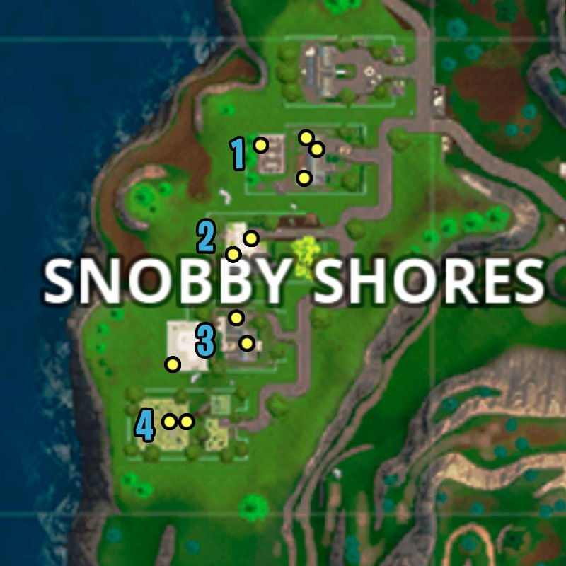 Fortnite map with snobby shores chest locations fortnite battle royale
